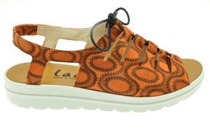 Elena sandale en cuir réglable avec un lacet élastique