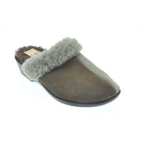 Acheter Milou pantoufle castor/gris au meilleur prix