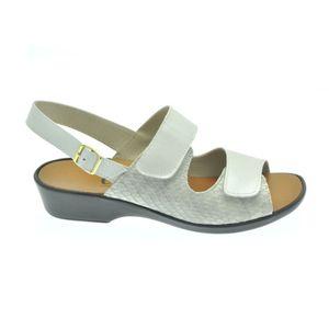 Acheter Dany sandale réglable par velcro Ivoire/Jazz gris au meilleur prix