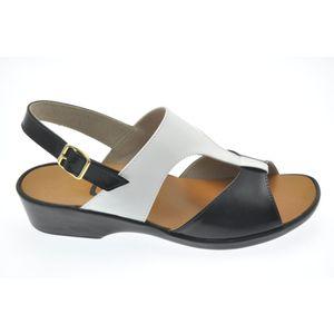 Acheter Solbride nu-pied Noir/Blanc au meilleur prix