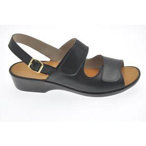 Acheter Dany sandale réglable par velcro Noir au meilleur prix