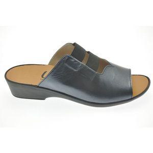 Acheter Flora mule avec élastique sur le cou de pied Irisé Noir au meilleur prix