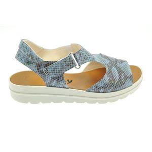 Acheter Valentina sandale en cuir Python Pacific au meilleur prix