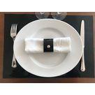 Set de table en cuir RD vernis noir