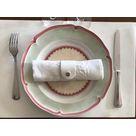 Set de table en cuir Set de table en cuir RD vernis blanc