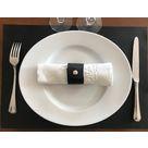 Set de table en cuir RD noir