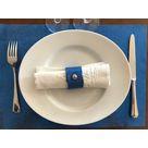 Set de table en cuir Mosa Bleu