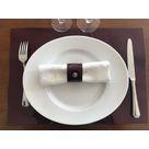 Set de table en cuir RD vernis grenat