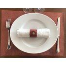 Set de table en cuir Mosa Rouille