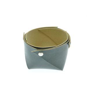 Acheter Corbeille en cuir petit modèle Bleu Maro au meilleur prix