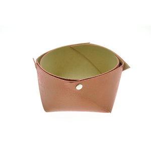 Acheter Corbeille en cuir moyen modèle Mosa Rouille au meilleur prix