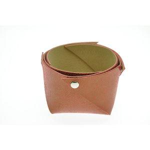 Acheter Corbeille en cuir petit modèle Mosa Rouille au meilleur prix