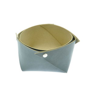 Acheter Corbeille en cuir moyen modèle Bleu Maro au meilleur prix