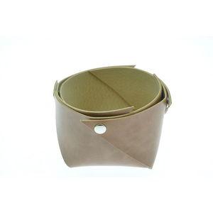 Acheter Corbeille en cuir petit modèle Marron maro au meilleur prix