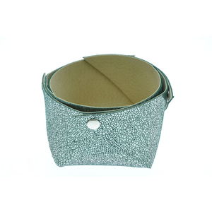 Acheter Corbeille en cuir petit modèle Mosa Vert sapin au meilleur prix