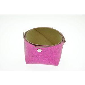 Acheter Corbeille en cuir petit modèle Mosa Pink au meilleur prix