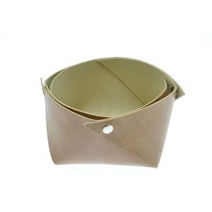 Acheter Corbeille en cuir moyen modèle Marron maro au meilleur prix