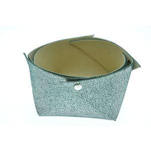 Acheter Corbeille en cuir moyen modèle Mosa Vert sapin au meilleur prix
