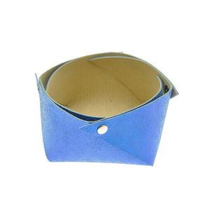 Acheter Corbeille en cuir moyen modèle Mosa Bleu au meilleur prix
