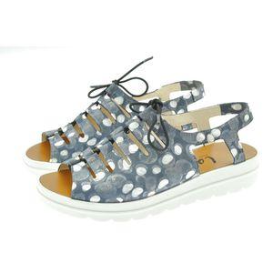 Acheter Elena sandale en cuir réglable avec un lacet élastique Soft Marine au meilleur prix