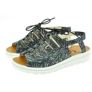 Acheter Elena sandale en cuir réglable avec un lacet élastique Vag Noir au meilleur prix